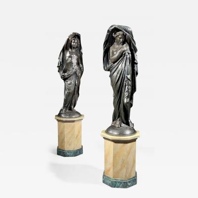Pair of Antique Statues in the Classical Manner