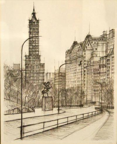 Pair of Architectural New York City Prints