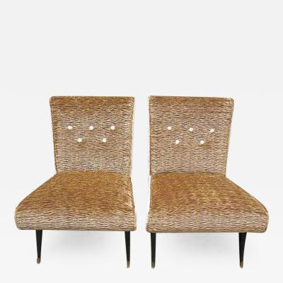 Pair of Armchairs Italian Production 1950s
