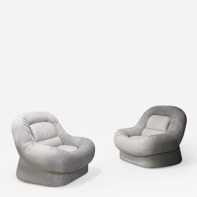 Pair of Armchairs Nuava by Emilio Guarnacci Felix Padovano for 1P 1960s