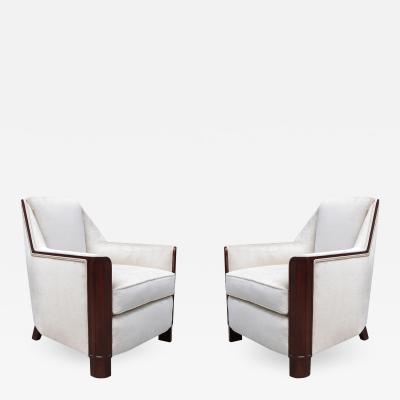 Pair of Art Deco Bergeres