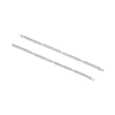 Pair of Art Deco Diamond Bracelets Convertible into a Necklace