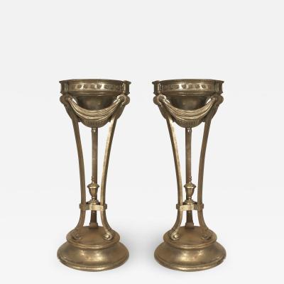 Pair of Art Deco Pedestal Planters
