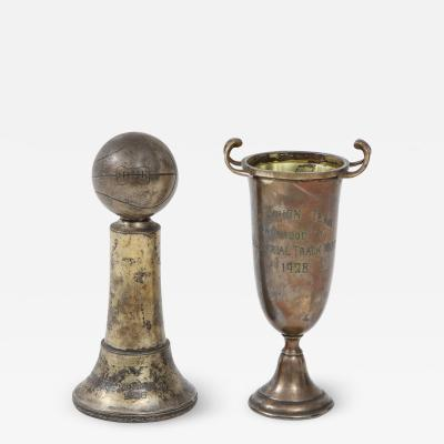 Pair of Art Deco Silver Trophies