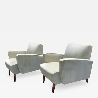 Pair of Art Deco Streamline Club Lounge Chairs