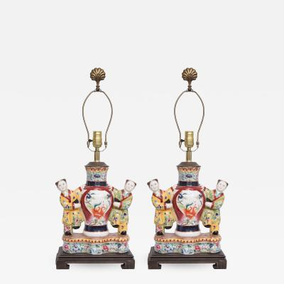 Pair of Asian Figurines as Table Lamps