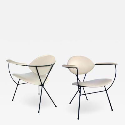 Pair of Atomic Age 1950s Lounge Chairs by Joseph Cicchelli for Reilly Wolff