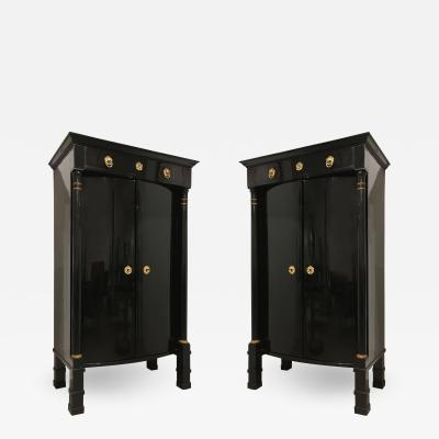 Pair of Austrian Biedermeier Armoire Cabinets