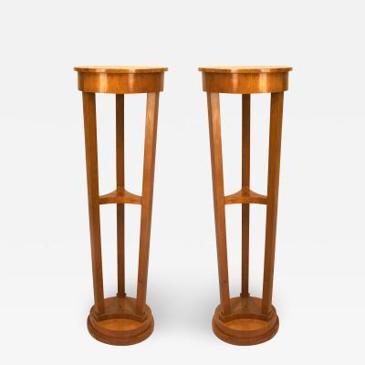 Pair of Austrian Biedermeier Maple Pedestals