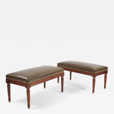 Pair of Benches Louis XVI France ca 1780