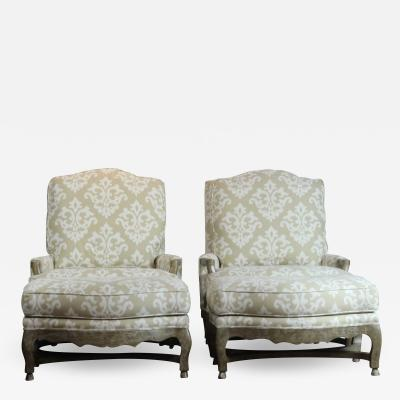 Pair of Berger Chairs Ottoman