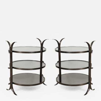 Pair of Bespoke Bronze Tulip Tables Designed by Amir Khamneipur