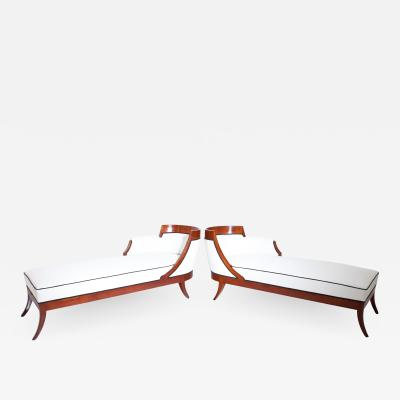 Pair of Biedermeier Recamiers