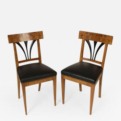 Pair of Biedermeier Side Chairs