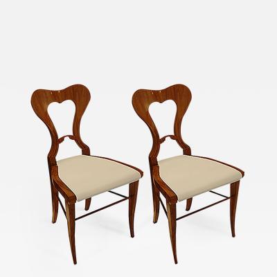 Pair of Biedermeier Side Chairs