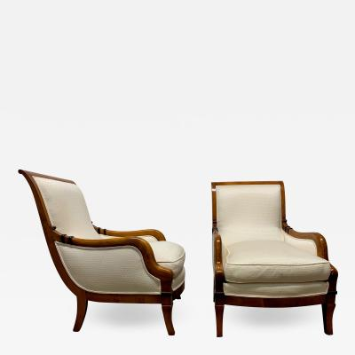 Pair of Biedermeier Style Lounge Chairs