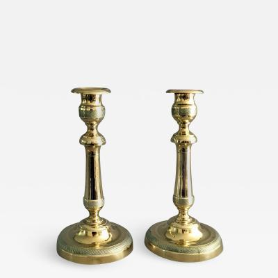 Pair of Brass Candlesticks Circa 1840