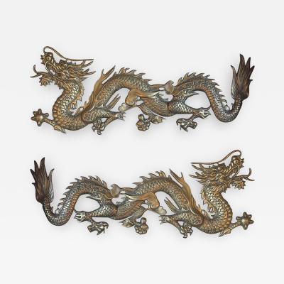 Pair of Bronze Dragons