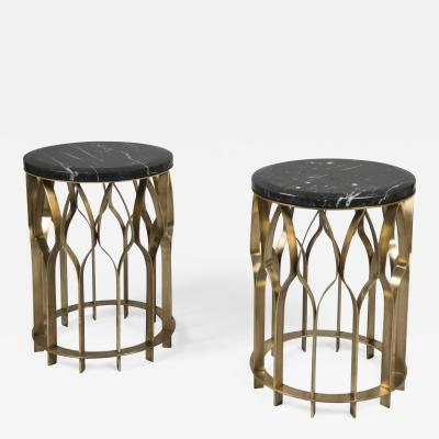 Pair of Bronze Marble Tables France 2017
