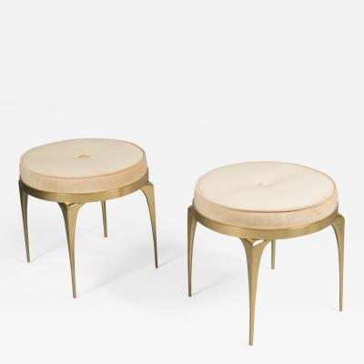 Pair of Bronze Stools France 2017