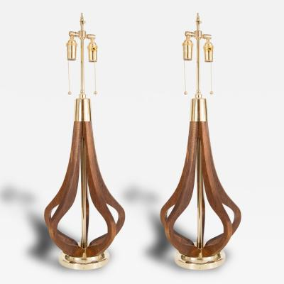 Pair of Bulb Form Table Lamps