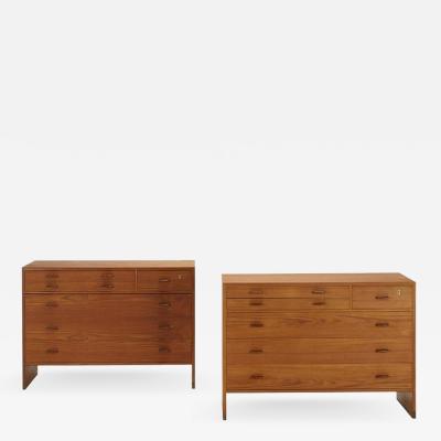 Pair of Cabinets Signed and Stamped Mobler Denmark Hans J Wegner Model Ry16