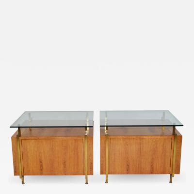Pair of Cabinets or Commodes or End Tables Mid Century Modern