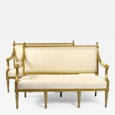 Pair of Canap s Louis XVI France Late 18th Century