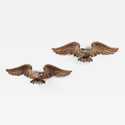 Pair of Carved Giltwood Eagles