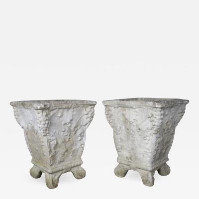 Pair of Cast Cement Belgium Planters 1920s