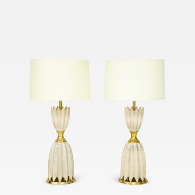Pair of Ceramic Lamps by Gerald Thurston for Lightolier