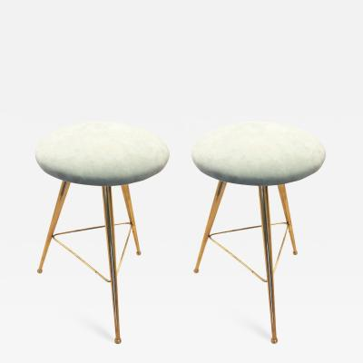 Pair of Charming Mid Century Stools