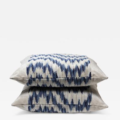 Pair of Chenille Zig Zag Pattern Pillows 2021 United States