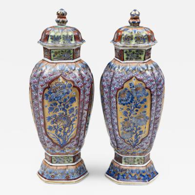 Pair of Chinese Clobbered Vases Circa 1700