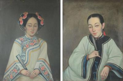 Pair of Chinese Export Portraits