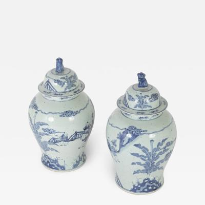 Pair of Chinese Porcelain Blue White