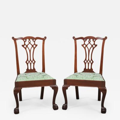 Pair of Chippendale Carved Side Chairs