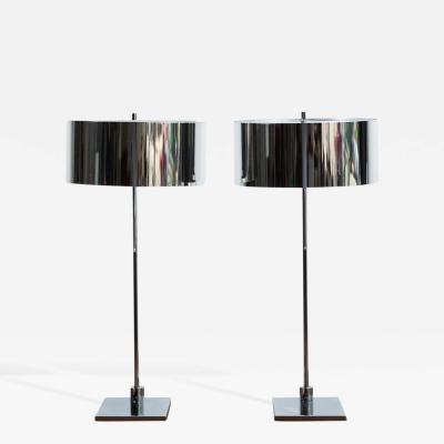 Pair of Chrome Desk Lamps