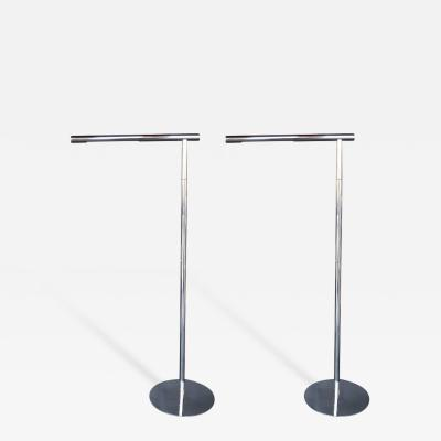 Pair of Chrome Floor Lamps
