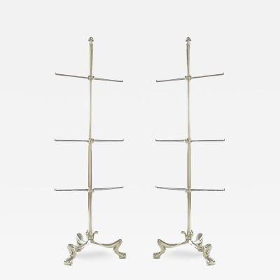 Pair of Chrome French Regency Style Towel Bars