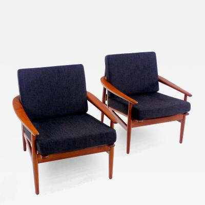 Pair of Classic Danish Modern Teak Armchairs