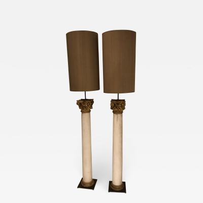 Pair of Columns Floor Lamps