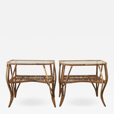 Pair of Consoles in Bamboo