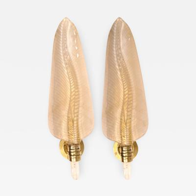Pair of Contemporary Feather Wall Lights