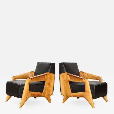 Pair of Contemporary Lounge Chairs