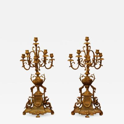 Pair of Continental Candelabra
