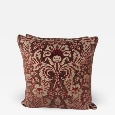 Pair of Cowtan Tout Volterra Glittered Velvet Pillows