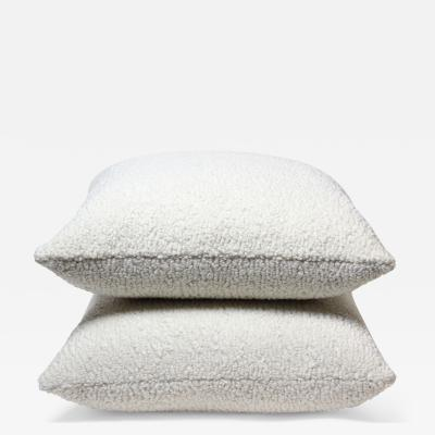 Pair of Cream Color Sherpa Pillows 2021 United States