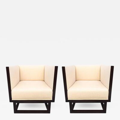 Pair of Cube Lounge Chairs by Josef Hoffmann