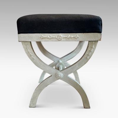 Pair of Curulis Leg Gustavian Benches